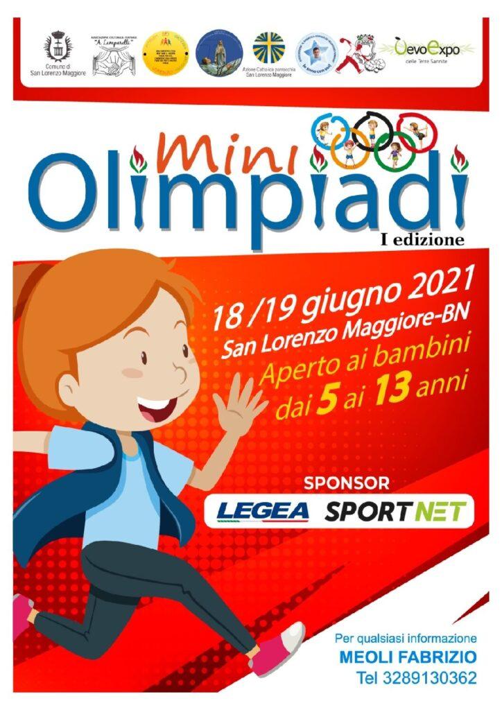 I Edizione delle Mini Olimpiadi  di San Lorenzo Maggiore – 18/19 giugno 2021